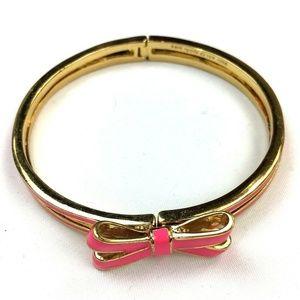 Kate Spade New York Pink Bow Bangle Bracelet